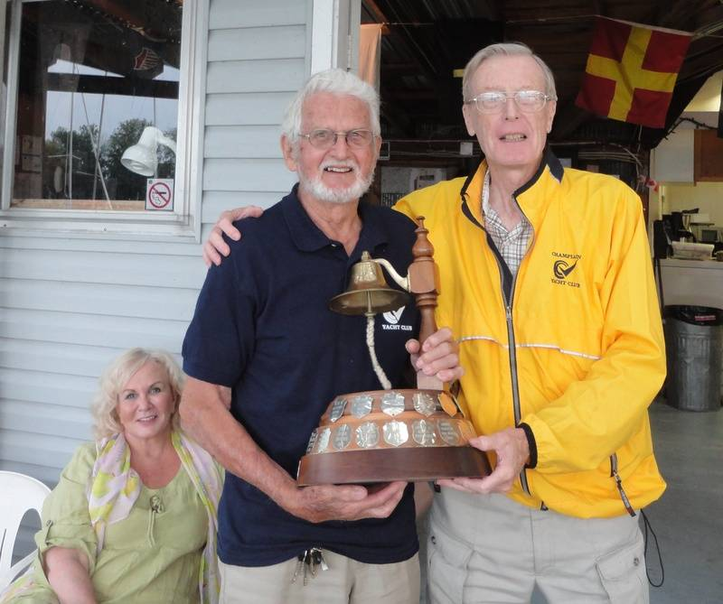 Trophy presented to Don Moreton by Vice Commodore Alec Adams