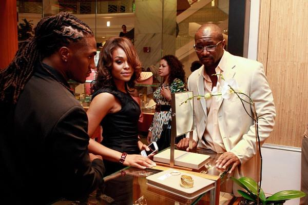 Stevie Baggs, Demetria & Roger Bobb Out On An Evening Of Shopping At David Yurman Boutique