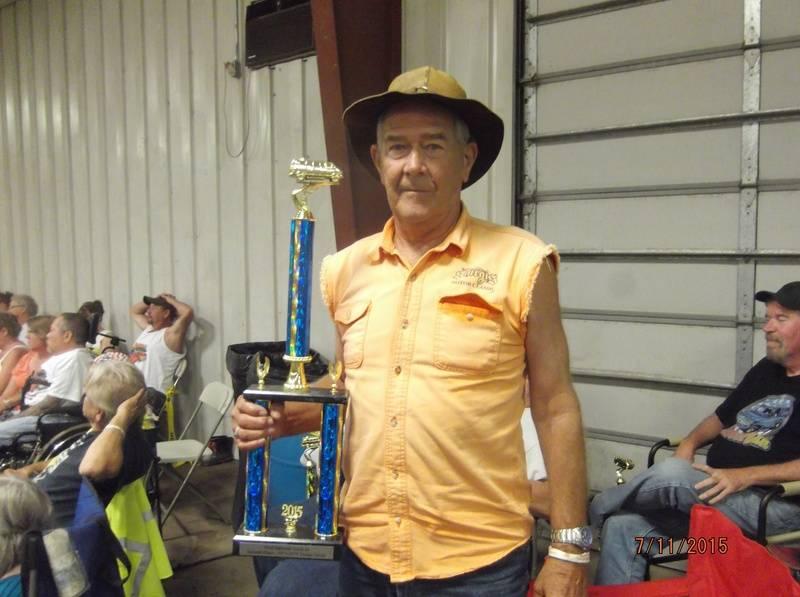 Richard Jackson & 2nd place trophy