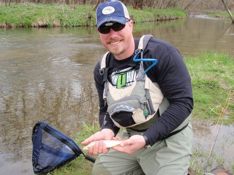 My first trout on a fly rod