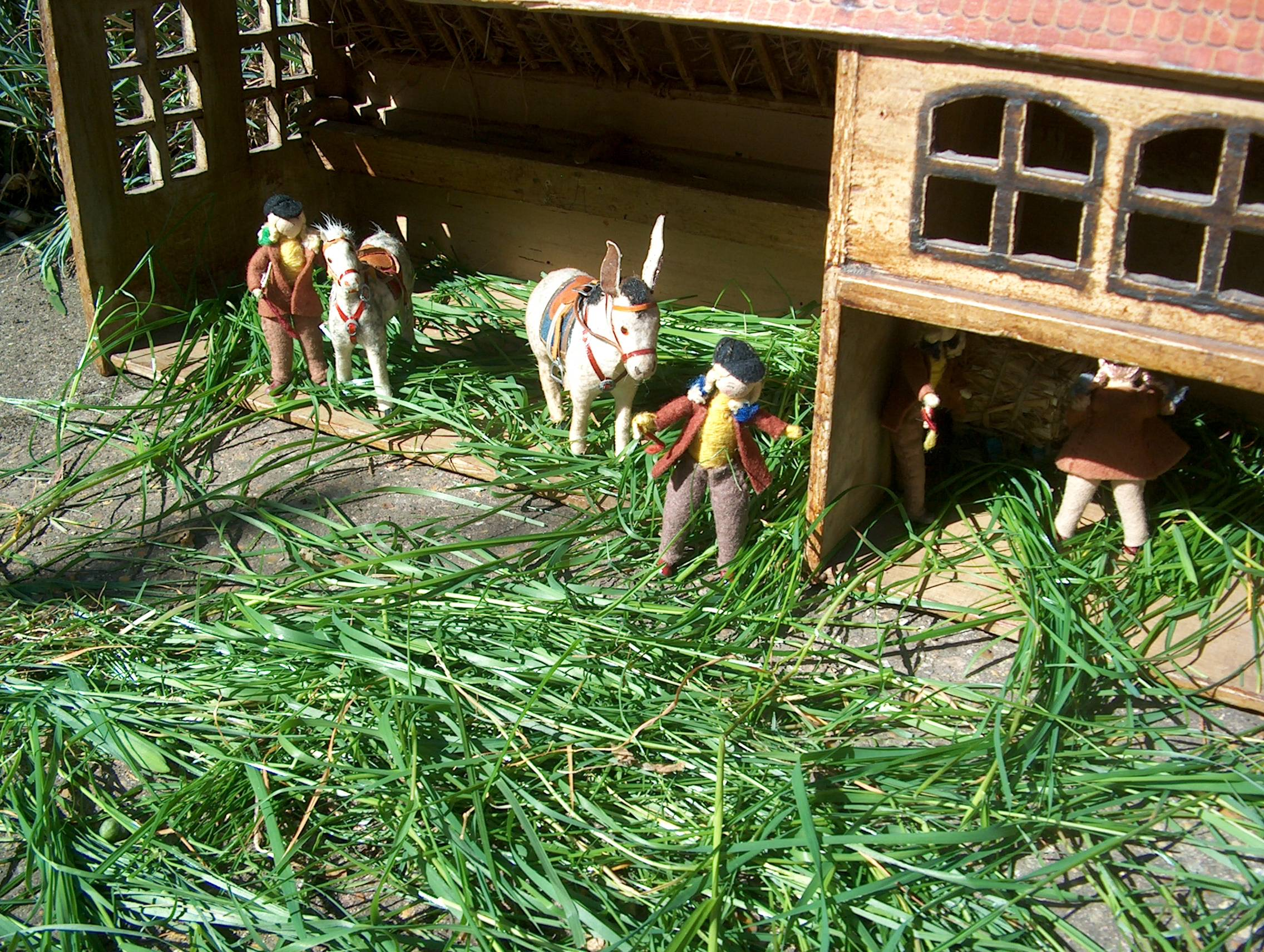 Suddenly a shrill scream came from the hayloft. Leaving the pony