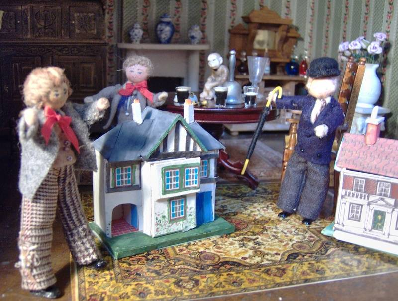 He collects dolls' houses! And now he has a room at the top of the house to put them in.