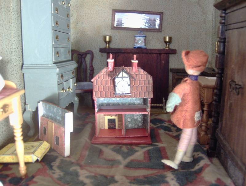 It was really a miracle that it had remained unpainted by Vanessa or Duncan. Nearly everything else in the house was - screens, fireplaces, beds, tables, chairs.....