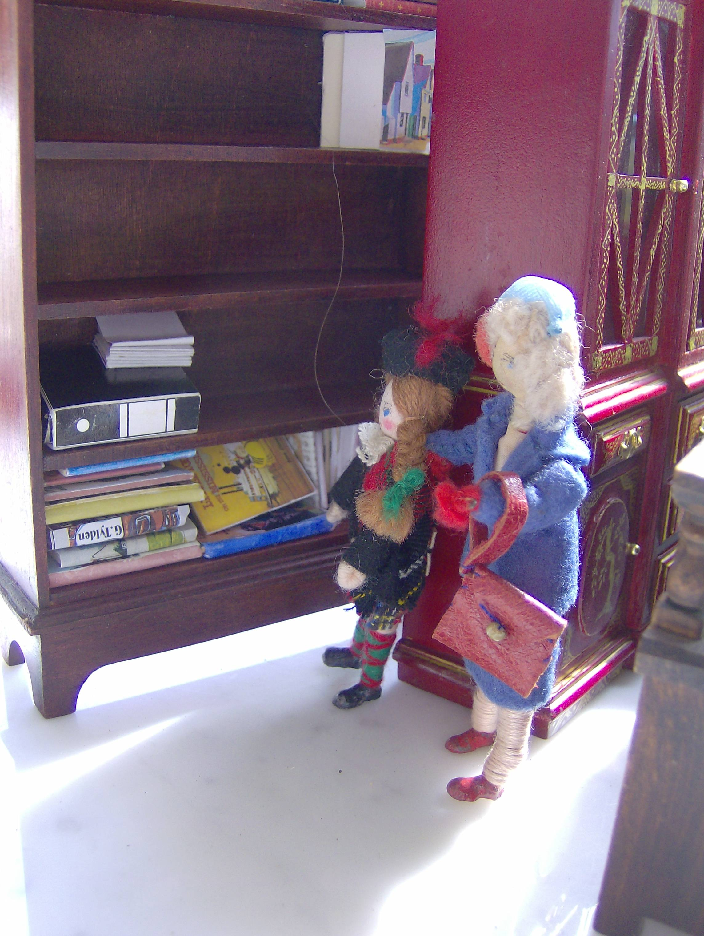 Mrs. McDonald and her little daughter Minnie, were hoping to find some interesting old books.