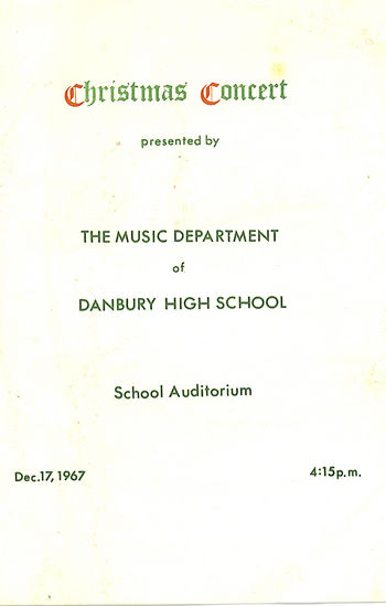 DHS 1967 Christmas Program--Cover