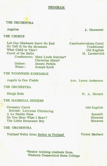 DHS 1967 Christmas Program--Pg. 1