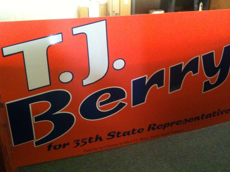 T.J. Berry Political Sign