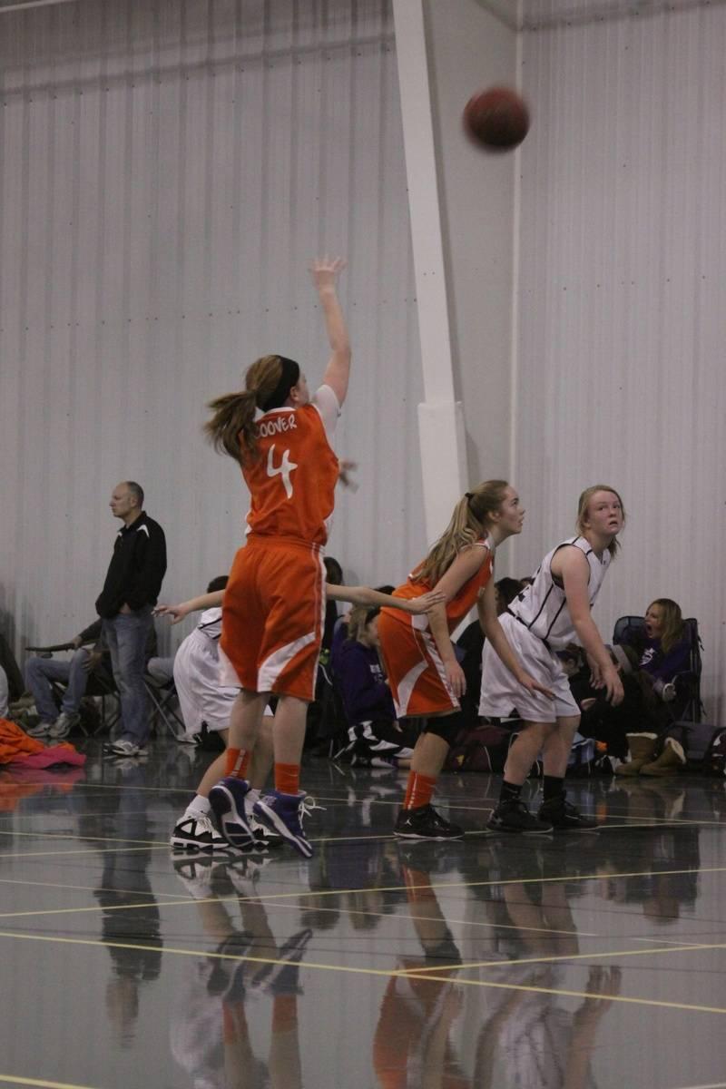Marian shoots a free throw