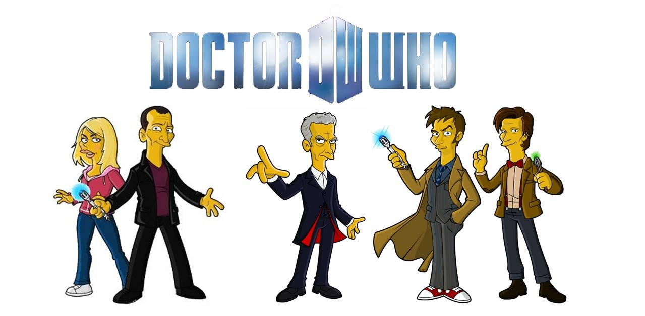 Dr Who simpsoned