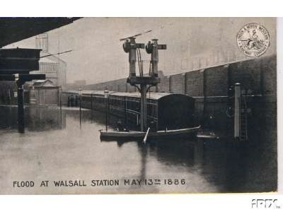 Walsall Station flooded