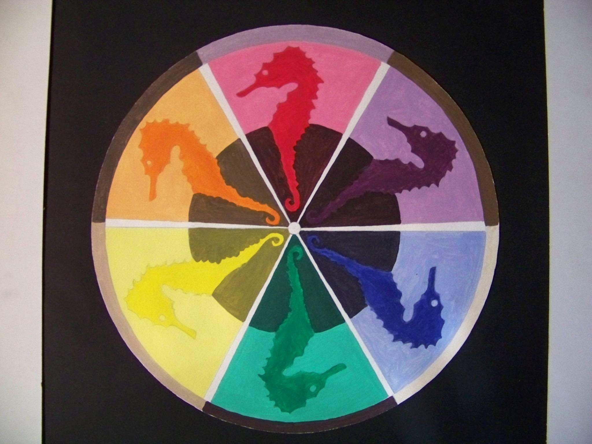 Sea horse colorwheel