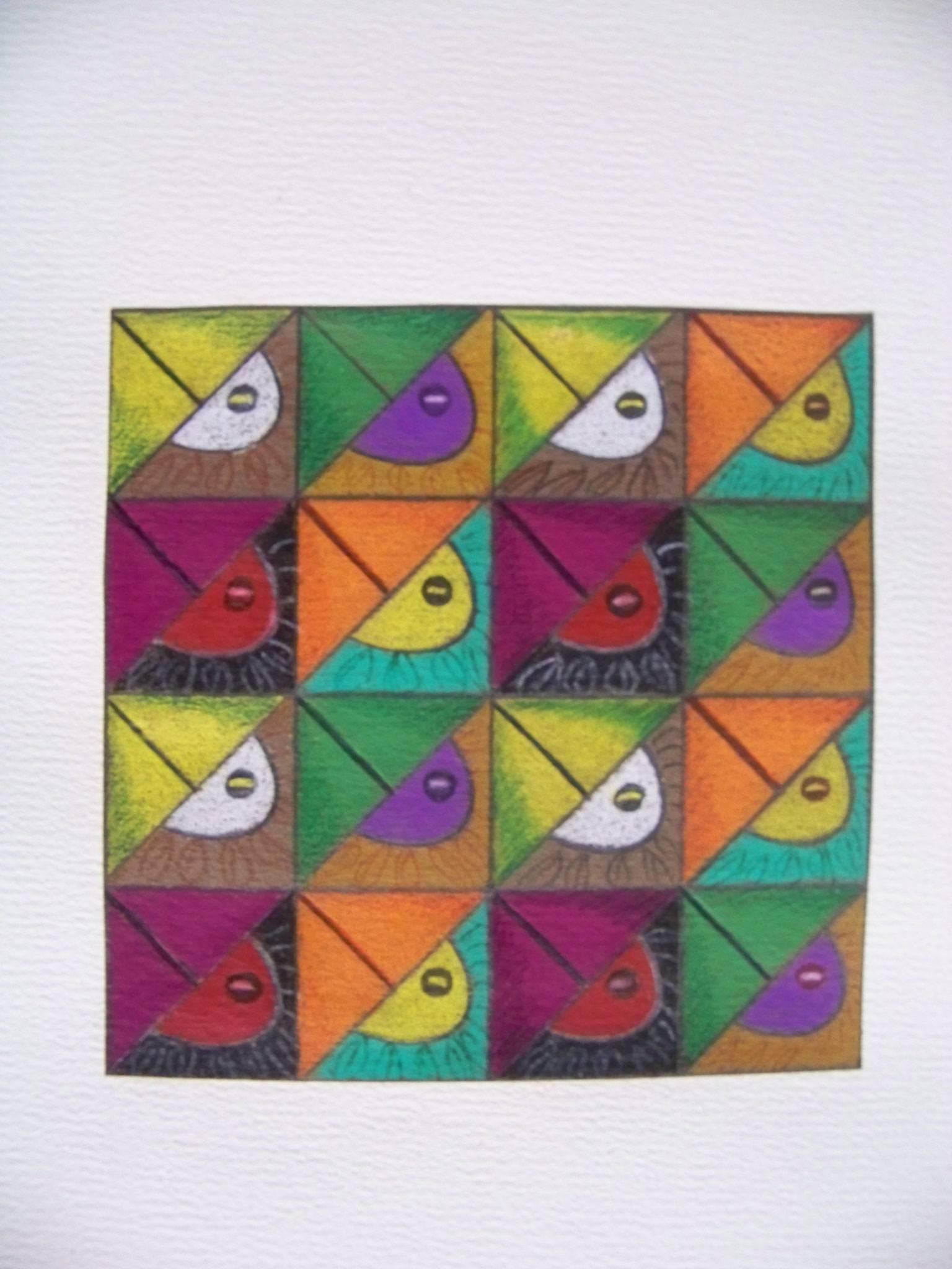 Bird eyes with beaks