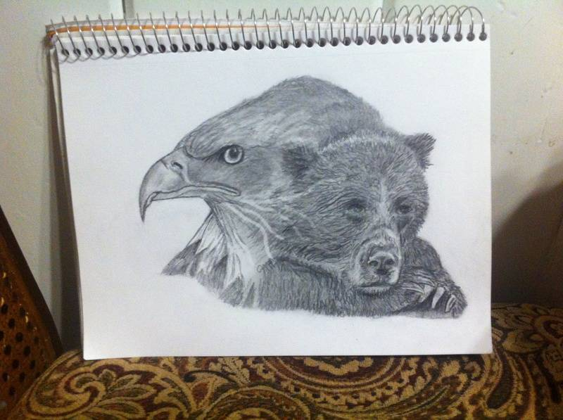 Eagle and bear