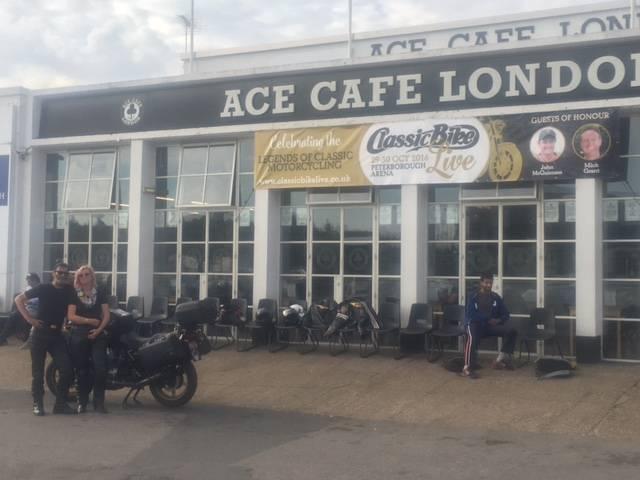Wayne and Meg, Ace Cafe, London