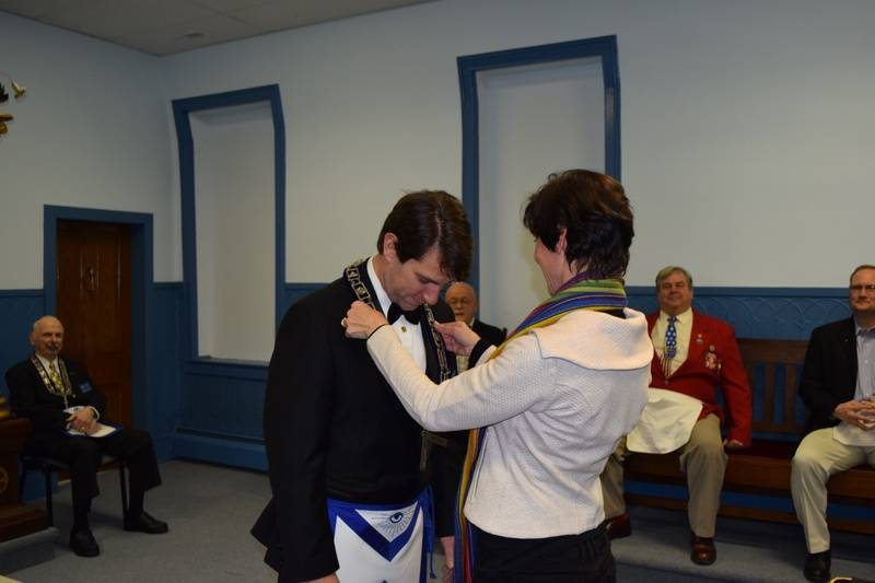 WM Receiving the Jewel of his Station