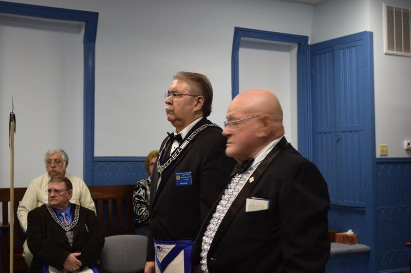 Bro John Hoke installed as Junior Warden
