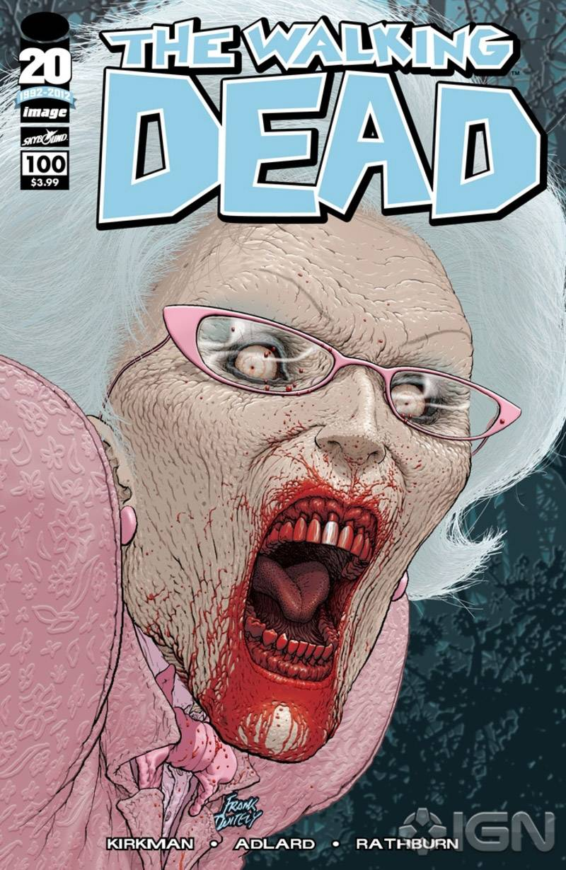 The Walking Dead # 100 Frank quitley Variant