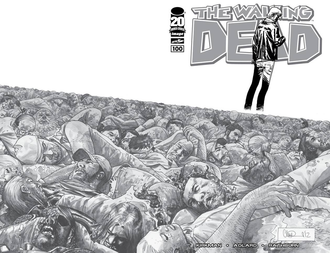 The Walking Dead # 100 1 - 200 b&w