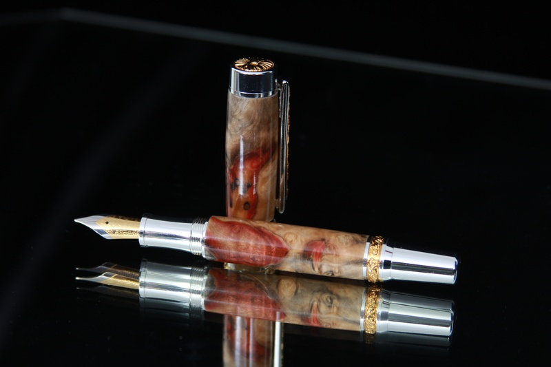 Flaming Red Box Elder Burl