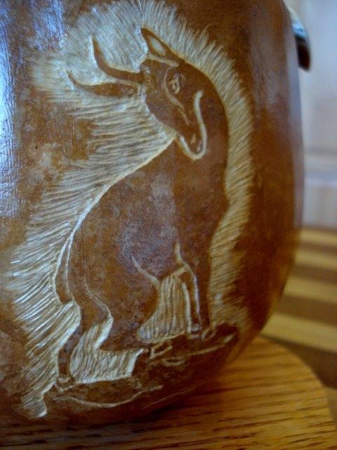 Gams Gourd carving