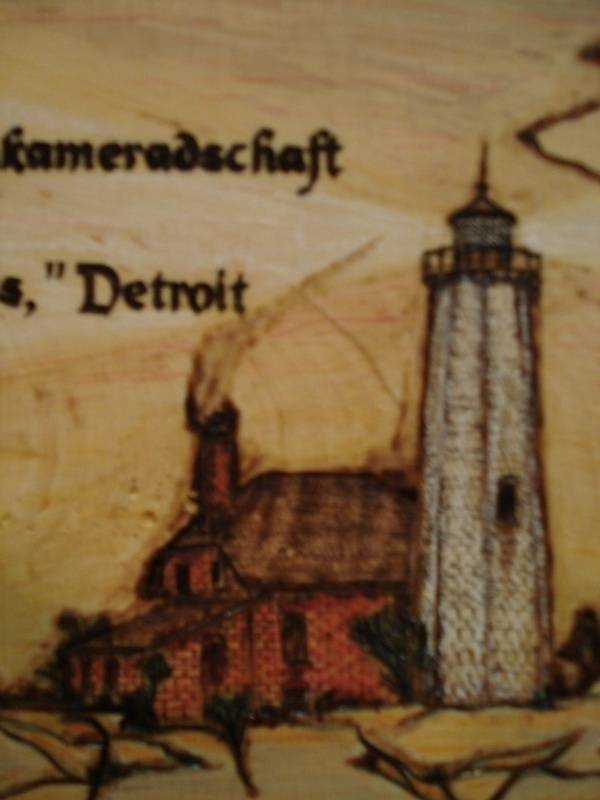 Lighthouse-Colored Woodburn Plaque
