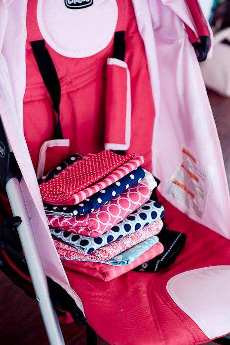 stroller blanket fabric set