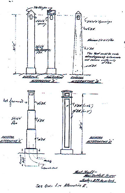 Sewer Vent plans 1925
