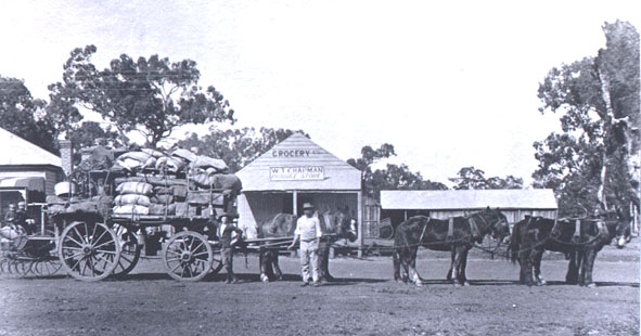 William Thomas Chapman Outside his Produce Store