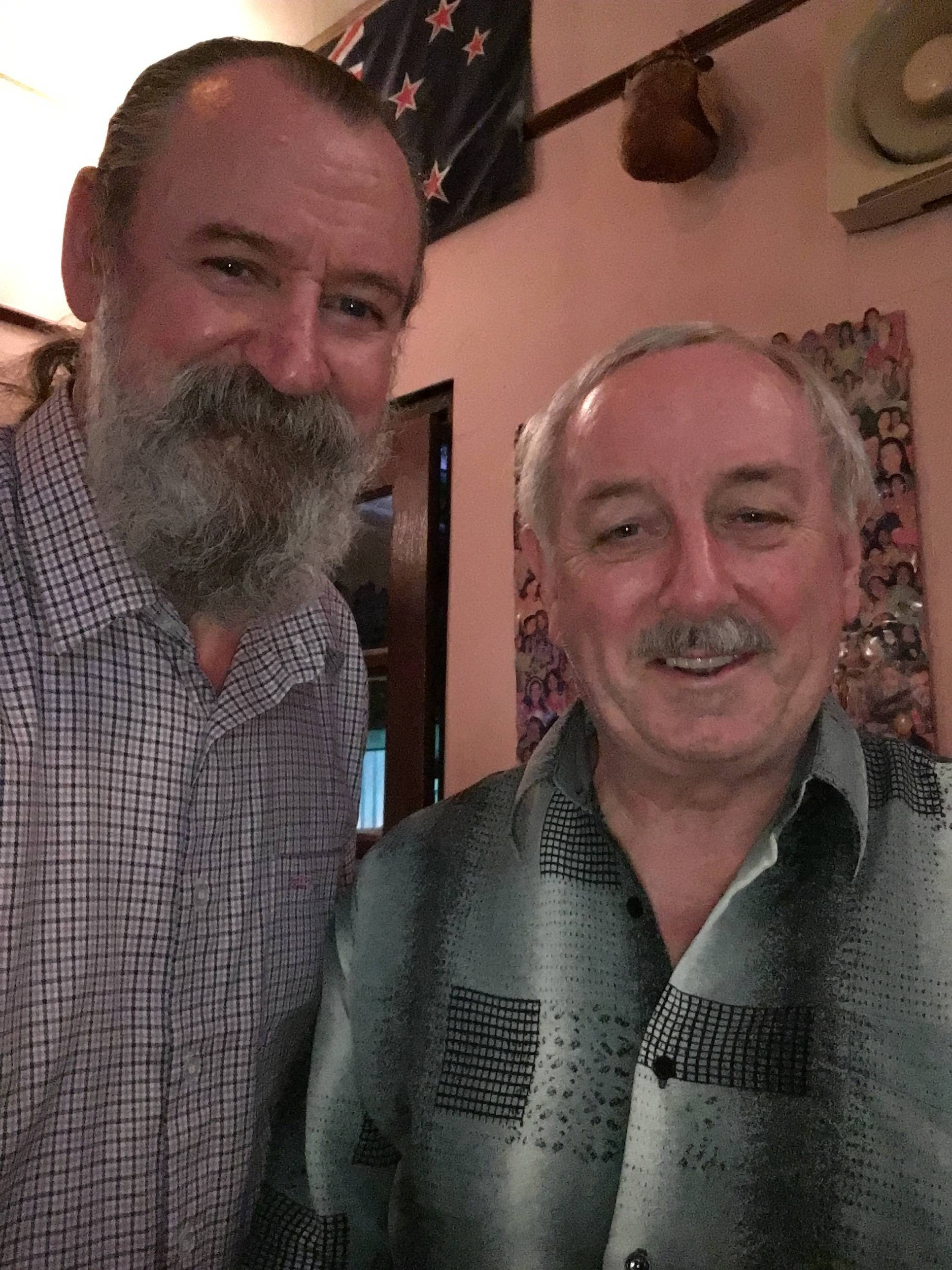 With well known Banjo Maker Tom Cussen of Clareen Banjo's in Galway.