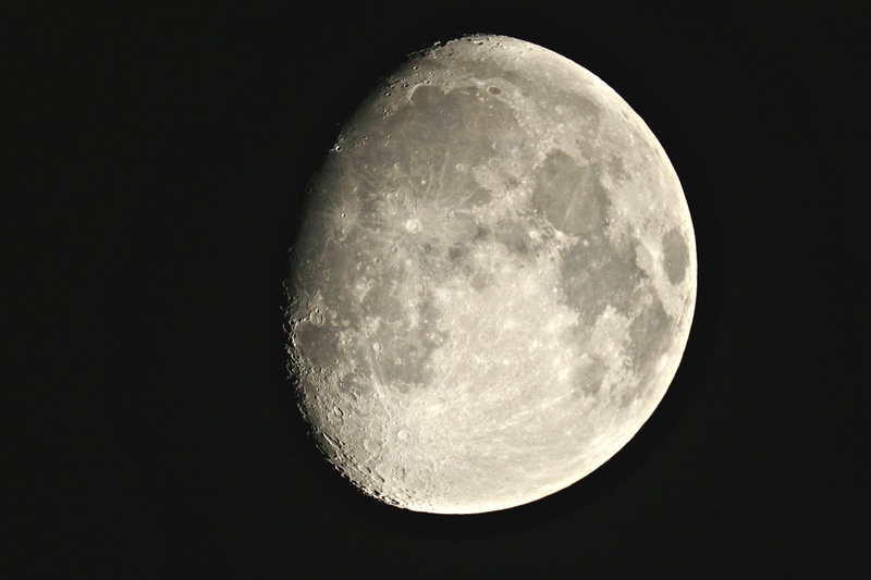Waxing Gibbous Moon on 14 February 2011
