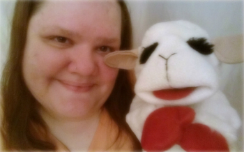 me an lamb chop, who i rescued from goodwill!