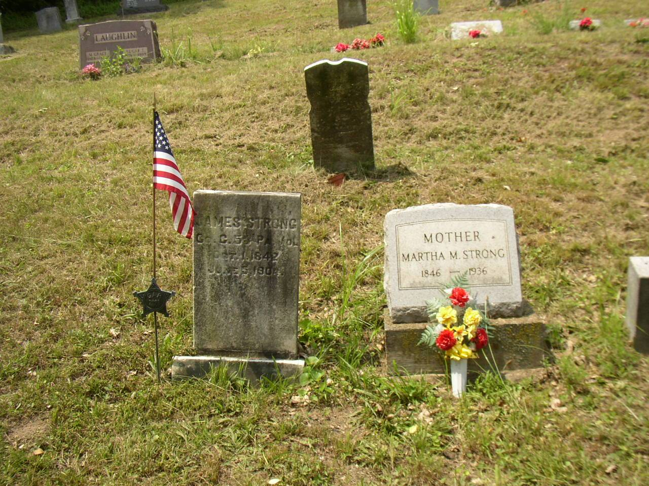 Close up of Pvt. James Strong & wife Martha