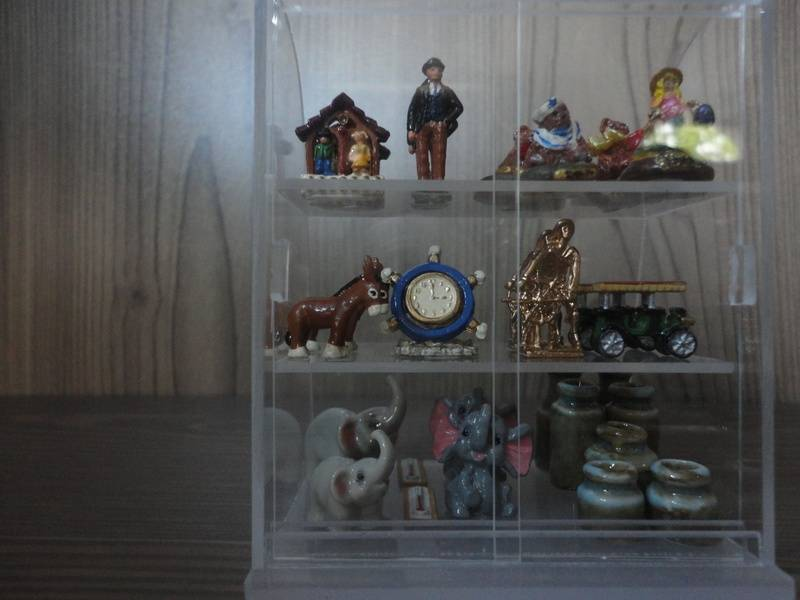 Gifts and souvenirs display cabinet