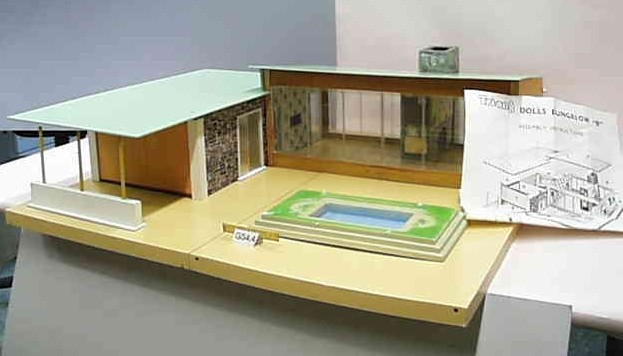 Bungalow B 1962-65. Dimensions: 35 inches [ cm] wide, 33 inches [89 cm] deep and 12.5 inches [31.5 cm] high