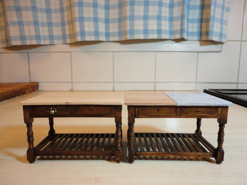 Ninth day...Ketterley's kitchen tables