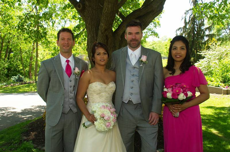 Bride and Groom, Best Man and Maid of Honour