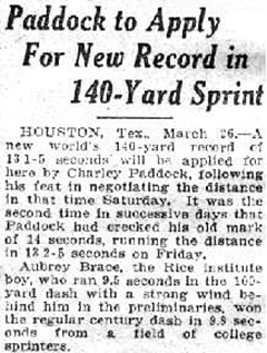 140 Yard sprint