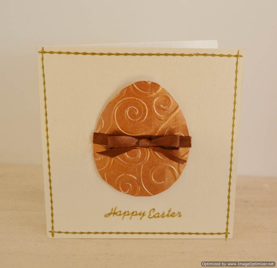 Simple embossed Easter Egg Card