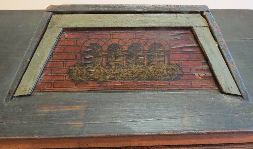 Lithograph Print on Roof