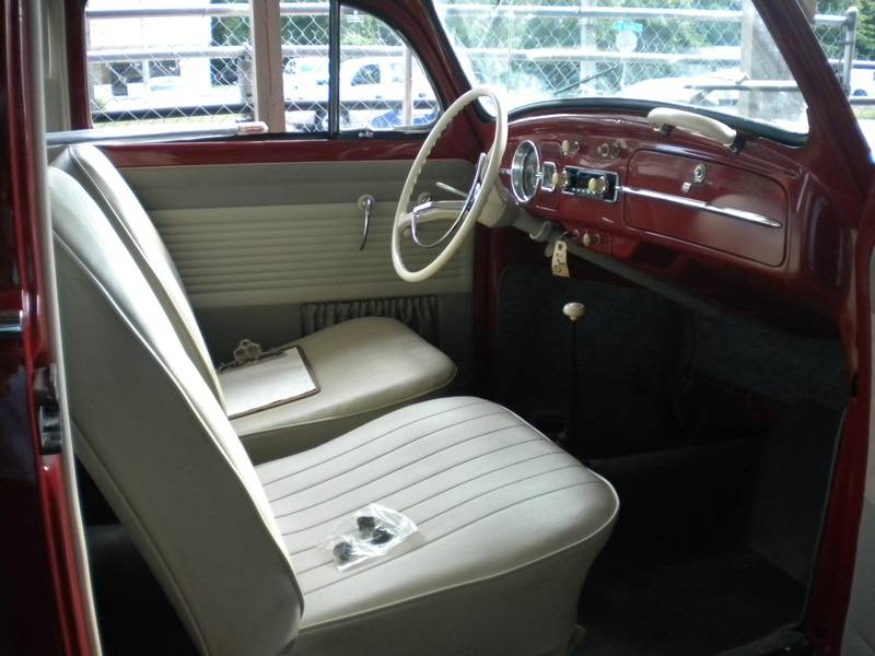1963 Ruby Red Beetle Interior by Hilltop!