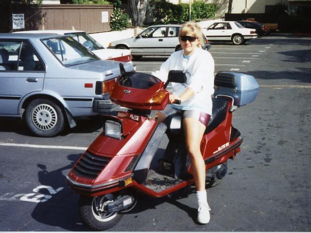 Julie On Scooter