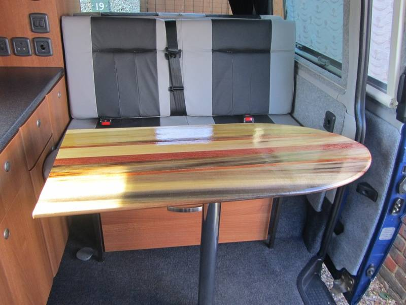 Floor mounted in VW T4