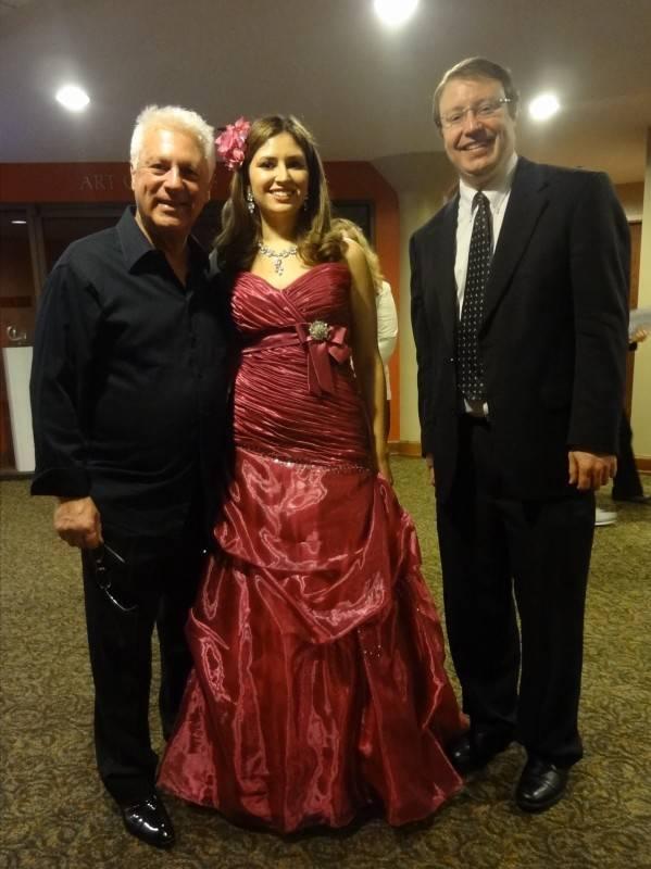 Mr. Angel Romero, soprano Julia Torgovitskaya and Mr. Romero's agent