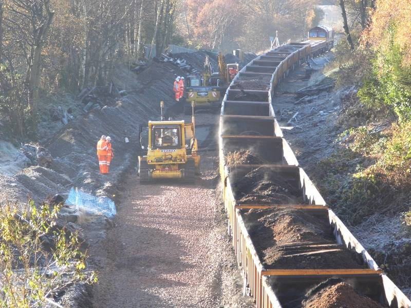 Work on the trackbed