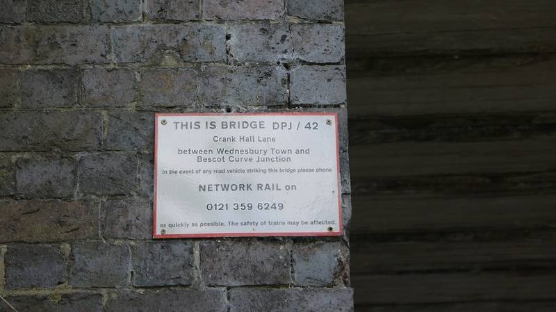 Network rail sign on bridge