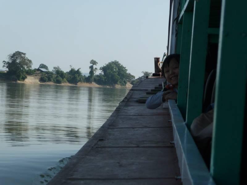Upriver from Mandalay to Shwegu.