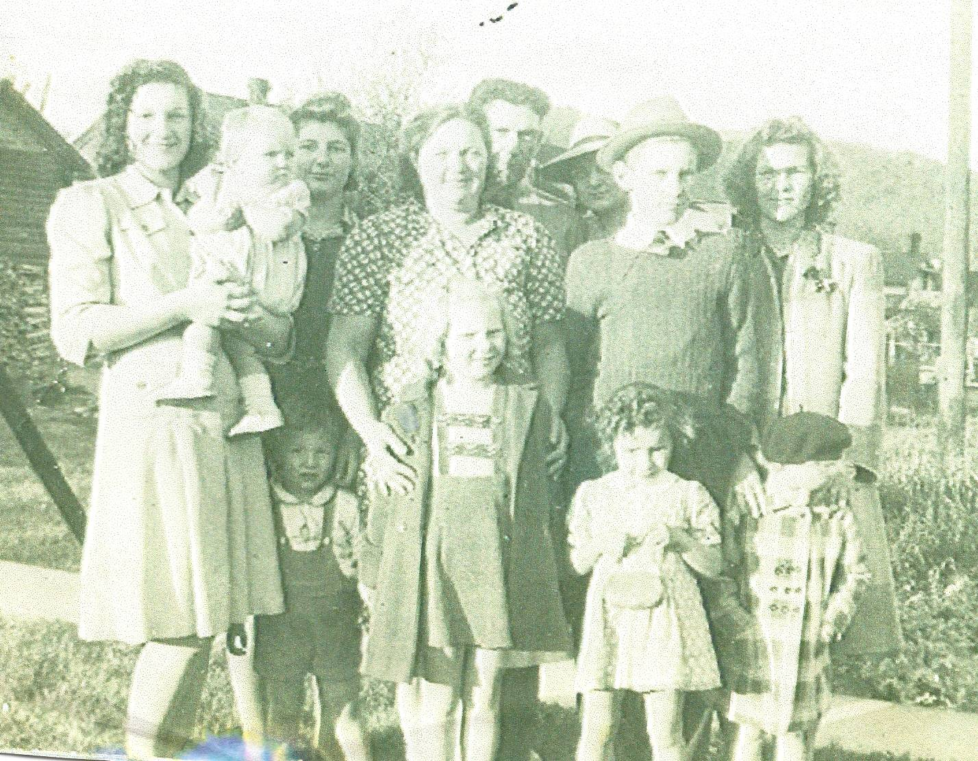 Chet Fisher with Children and Grandchildren
