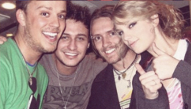 Taylor with Stephen Baker Lyles and the rest of Love and theft
