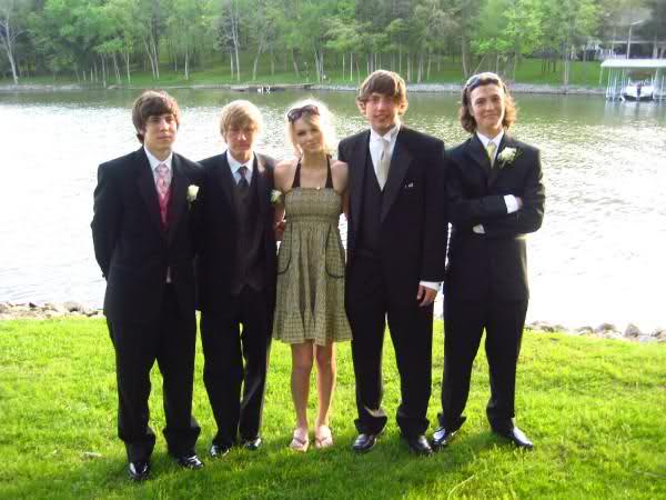 Taylor with some guys