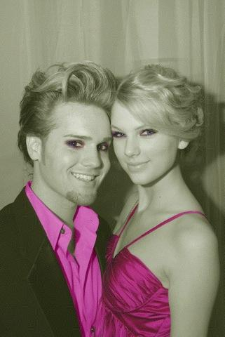 Taylor with a guy at her 18th birthday